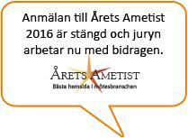 Anmalan till Årets Ametist 2016 stängd