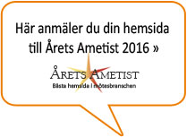 Anmäl din hemsida till Årets Ametist 2016 »